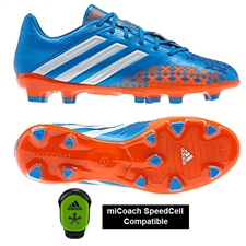 Adidas Predator Absolado LZ TRX FG Soccer Cleats (Pride Blue/Running White/Orange) - mi Coach Compatible (Sold Seperately)