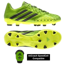 Adidas Predator Absolion LZ TRX FG Soccer Cleats (Ray Green/Black)