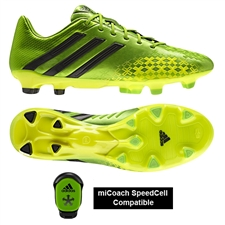 Adidas Soccer Cleats | FREE SHIPPING | Q21663 | Adidas Predator LZ TRX FG Soccer Cleats (Ray Green/Black)