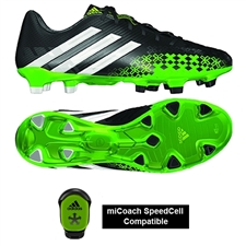 Adidas Soccer Cleats | FREE SHIPPING | Q21664 | Adidas Predator LZ TRX FG Soccer Cleats (Black/Running White/Ray Green)