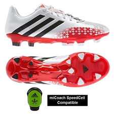 Adidas Soccer Cleats | FREE SHIPPING | Q21665 | Adidas Predator LZ TRX FG Soccer Cleats (Running White/Black/Hi-Res Red)