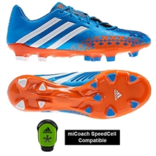 Adidas Soccer Cleats | FREE SHIPPING | Q21666 | Adidas Predator LZ TRX FG Soccer Cleats (Pride Blue/Running White/Orange)