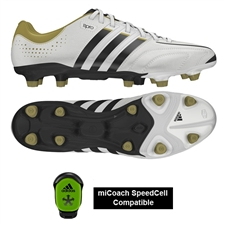 Adidas adiPure 11Pro TRX FG Soccer Cleats (Running White/Black/Metallic Gold)