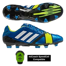 Adidas Soccer Cleats | FREE SHIPPING | Q33665 | Adidas Nitrocharge 1.0 TRX FG Soccer Cleats (Blue Beauty/Running White/Electricity)