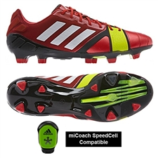 Adidas Soccer Cleats | FREE SHIPPING | Q33666| Adidas Nitrocharge 1.0 TRX FG Soccer Cleats (Vivid Red/Running White/Electricity)