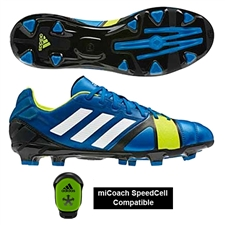 Adidas Soccer Cleats | FREE SHIPPING | Q33672 | Adidas Nitrocharge 2.0 TRX FG Soccer Cleats (Blue Beauty/Running White/Electricity)