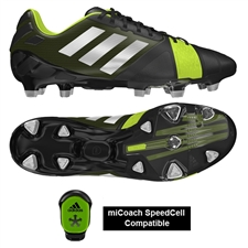 Adidas Soccer Cleats | FREE SHIPPING | Q33665 | Adidas Nitrocharge 1.0 TRX FG Soccer Cleats (Black/Silver/Electricity)