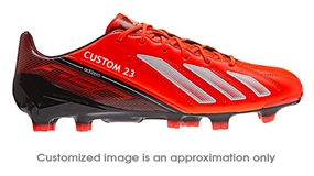 Adidas Soccer Cleats |FREE SHIPPING| Adidas Q33845| Adidas F50 adizero (Leather) TRX FG CUSTOM Soccer Cleats (Infrared/Running White/Black) |