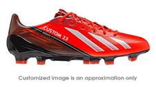 Adidas Soccer Cleats |FREE SHIPPING| Adidas Q33848| Adidas F50 adizero (Synthetic) TRX FG CUSTOM Soccer Cleats (Infrared/Running White/Black) |