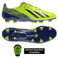 Adidas Soccer Cleats |FREE SHIPPING| Adidas Q33850 | Adidas F50 adizero (Synthetic) TRX FG Soccer Cleats (Electricity/Hero Ink/Metallic Silver) |