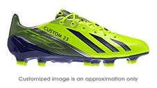Adidas Soccer Cleats |FREE SHIPPING| Adidas Q33850| Adidas F50 adizero (Synthetic) TRX FG CUSTOM Soccer Cleats (Electricity/Hero Ink/Metallic Silver)