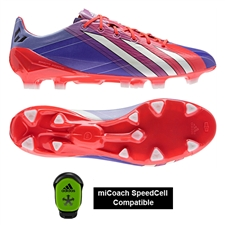 Adidas Messi F50 adizero (Synthetic) TRX FG Soccer Cleats (BlastPurple/infrared/White)
