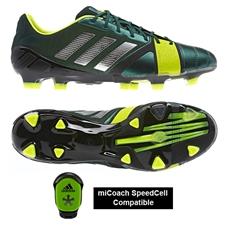 Adidas Soccer Cleats | FREE SHIPPING | Q34221 | Adidas Nitrocharge 1.0 TRX FG Soccer Cleats (Black/Silver/Electricity)
