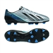 Adidas F30 adizero (Leather) TRX FG Soccer Cleats (Metallic Silver/Black/Joy Blue)