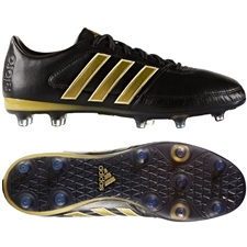 Adidas Gloro 16.1 FG Soccer Cleats (Black/Gold Metallic/Black)
