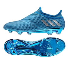 Adidas Messi 16+ PureAgility FG Soccer Cleats (Shock Blue/Matte Silver/Core Black)