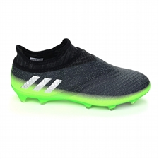 Adidas Messi 16+ PureAgility FG Soccer Cleats (Dark Grey/Silver Metallic/Slime Green)