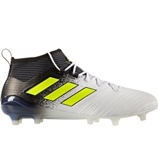 Adidas ACE 17.1 Primeknit FG Soccer Cleats (White/Solar Yellow/Core Black) | S77035