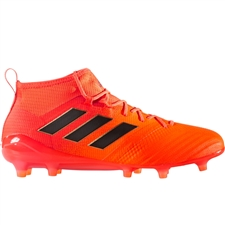 Adidas ACE 17.1 Primeknit FG Soccer Cleats (Solar Orange/Core Black/Solar Red) | S77036