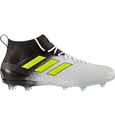 Adidas ACE 17.2 Primemesh FG Soccer Cleats (White/Solar Yellow/Core Black) | Adidas Soccer Cleats |FREE SHIPPING| Adidas S77054 | SoccerCorner.com