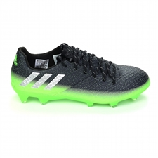 Adidas Messi 16.1 FG Soccer Cleats (Dark Grey/Silver Metallic/Slime Green)