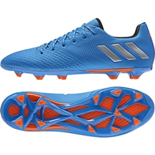 Adidas S79632 | Adidas Messi 16.3 FG Soccer Cleats (Shock Blue/Metallic Silver/Black)