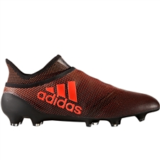 Adidas X 17+ PureSpeed FG Soccer Cleats (Core Black/Solar Red/Solar Orange)