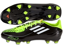 Adidas F30 TRX FG Soccer Cleats (Black/White/Electricity)
