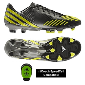 Adidas Predator LZ TRX FG Soccer Cleats (Black/ Lab Lime/Neo Iron Met)
