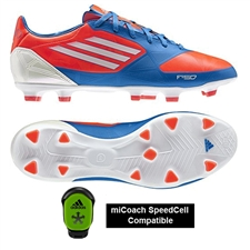 Adidas F30 TRX FG Soccer Cleats (Infrared/RunningWhite/BrightBlue)