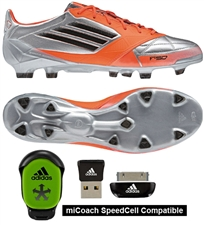 Adidas F50 adizero (Leather) TRX FG Soccer Cleats (Mettalic Silver/Black/Infrared)