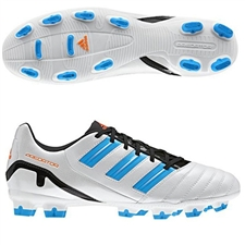 Adidas Predator Absolion TRX FG Soccer Cleats (White/Predator Sharp Blue/Black/Warning)