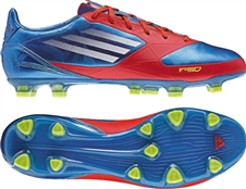 Adidas F30 TRX FG Soccer Cleats (Prime Blue/White/Core Energy)