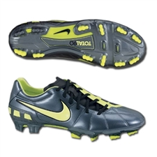 Nike Total90 Strike III FG Soccer Cleats (Metallic Blue Dust/Black/Volt)