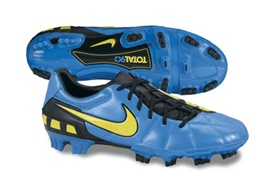 Nike Total 90 Strike III Firm Ground Soccer Cleats (Neptune Blue/Black/Vibrant Yellow)