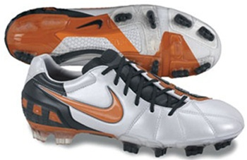 Nike Total90 Laser III FG Soccer Cleats (Platinum/Orange Blaze/Black)