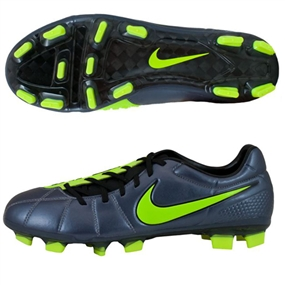 Nike Total90 Laser Elite FG Soccer Cleats (Metallic Blue Dust/Black/Volt)