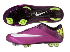 Nike Mercurial Vapor Superfly III Elite FG Soccer Cleats (Red Plum/Windchill/Volt/Black)