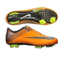 Nike Mercurial Vapor Superfly III Elite FG Soccer Cleats (Orange Peel/Metallic Silver/Volt/Metallic Hematite)