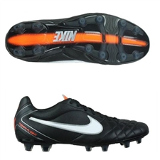 Nike Tiempo Flight FG Soccer Cleats (Black/Total Orange/White)