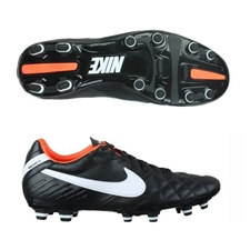 Nike Tiempo Mystic IV FG Soccer Cleats (Black/Total Orange/White)
