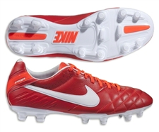 Nike Tiempo Mystic IV FG Soccer Cleats (Sunburst/Total Crimson/White)