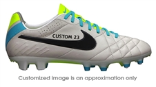 Nike Tiempo Legend IV FG CUSTOM Soccer Cleats (Light Bone/Volt/Black)