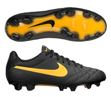 Nike Tiempo Legend IV FG Soccer Cleats (Dark Charcoal/Black/Laser Orange)