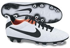 Nike Tiempo Legend IV FG Soccer Cleats(White/Total Crimson/Black)