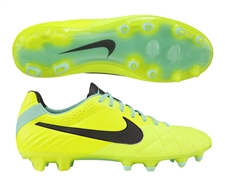 Nike Tiempo Legend IV FG Soccer Cleats (Volt/Green Glow/Black)