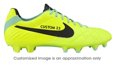 Nike Tiempo Legend IV FG CUSTOM Soccer Cleats (Volt/Green Glow/Black)