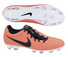 Nike T90 Laser IV FG Soccer Cleats (Bright Mango/Total Crimson/Black)