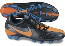 Nike Total90 Laser IV KL FG Soccer Cleats (Black/Blue Glow/Total Orange))
