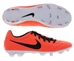Nike T90 Strike IV FG Soccer Cleats (Bright Mango/Total Crimson/Black)